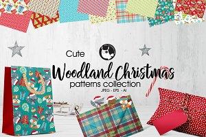 WOODLAND CHRISTMAS Pattern colection