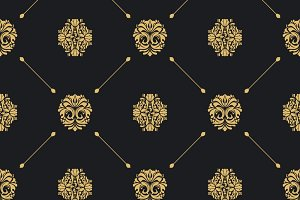 Royal baroque seamless pattern