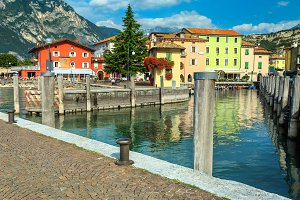 Torbole touristic town, Italy