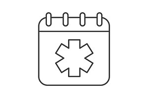 World Ambulance Day linear icon