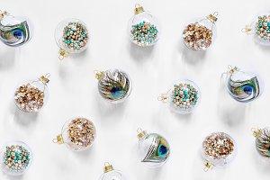 Christmas glass transparent balls