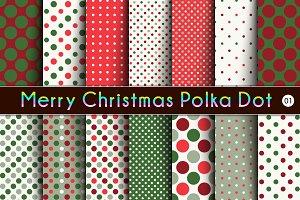 Merry Christmas Polka Dot  -01