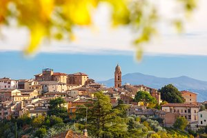 Siena Old Town in the sunny day, Tuscany, Italy