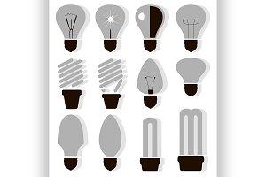 Bulb logo icons set
