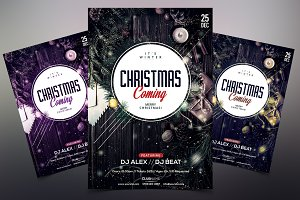 Christmas Coming - PSD Flyer