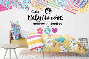 BABY UNICORNS Pattern collection