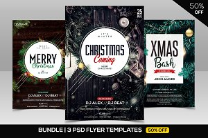 BUNDLE 50% OFF - 3 CHRISTMAS Flyers