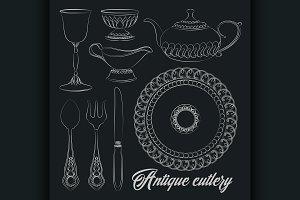 antique silver cutlery set