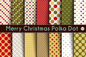 Merry Christmas Polka Dot  -02