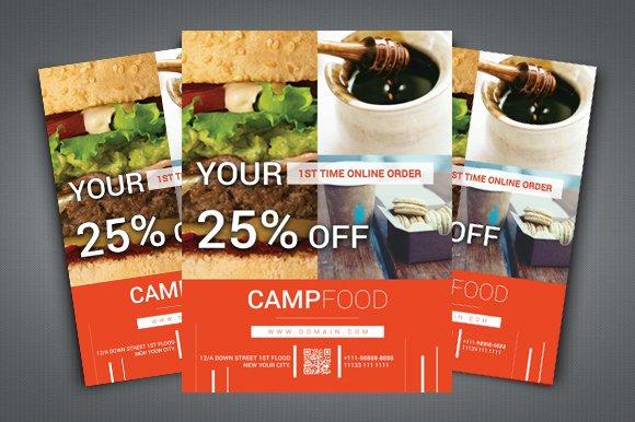 Restaurant online delivery flyer flyer templates creative market forumfinder Image collections