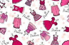 Pattern with dresses for girls
