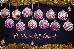 Purple And Gold Christmas Ornaments