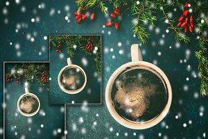 Winter. Christmas coffee