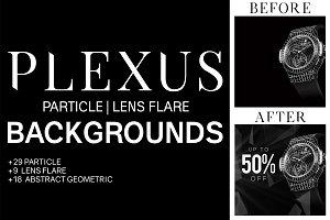 Plexus Light & Particle Backgrounds