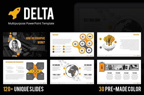 delta powerpoint template presentation templates creative market