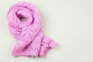 Pink handmade scarf