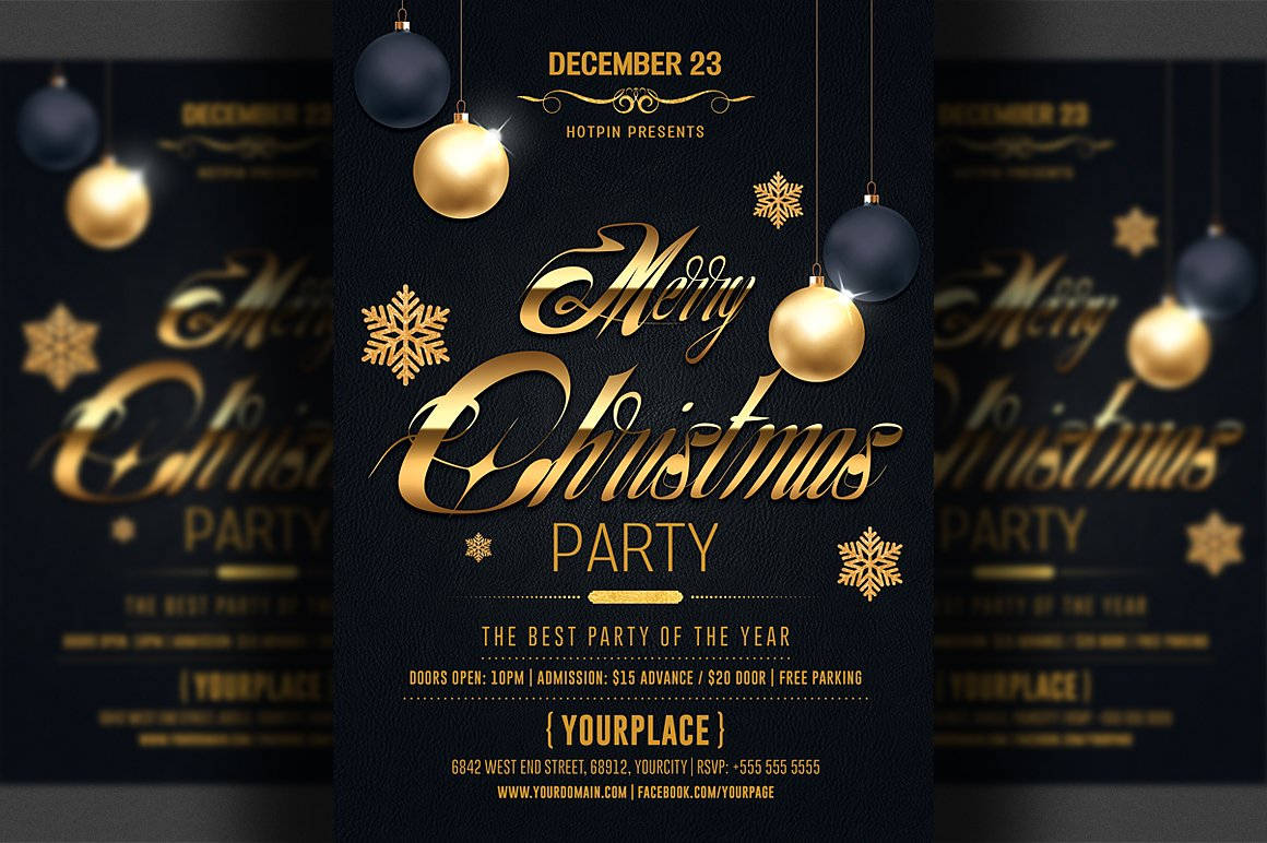classy christmas flyer template flyer templates creative market