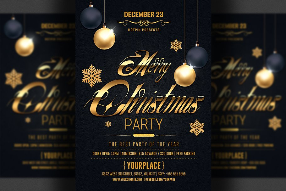 Christmas Flyer.Classy Christmas Flyer Template Flyer Templates Creative
