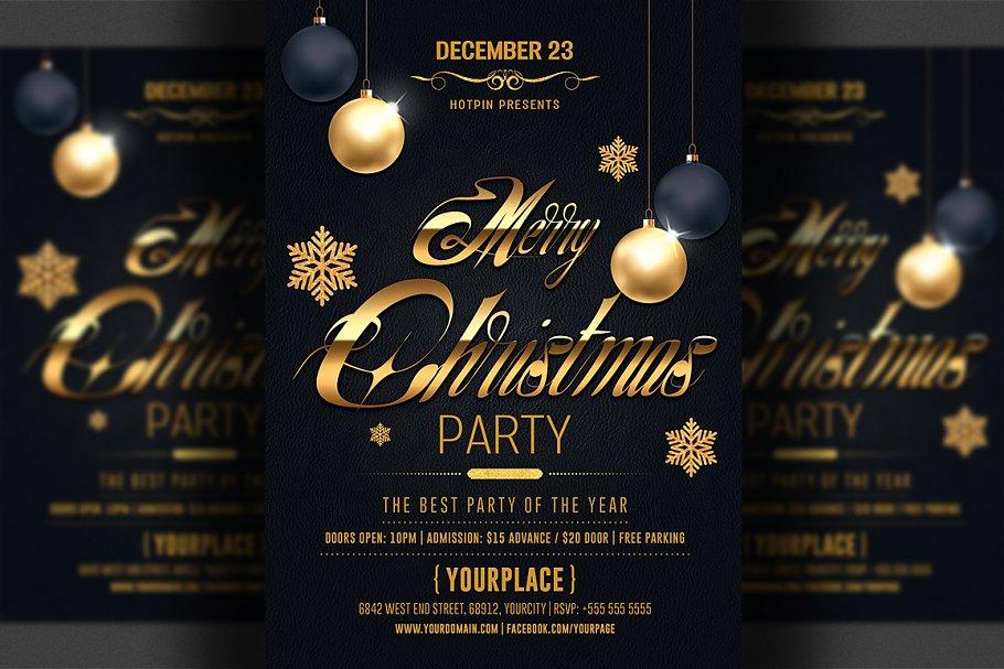 Christmas Flyer.Classy Christmas Flyer Template Flyer Templates Creative