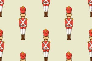 Toy soldier seamless pattern