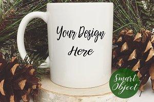 Holiday Coffee Mug Mockup