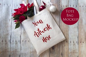 Tote Bag Mockup - Christmas