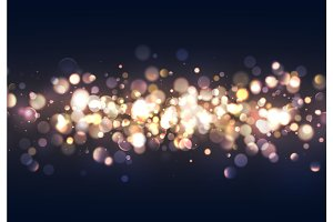 Christmas lights. Background of bright glow bokeh