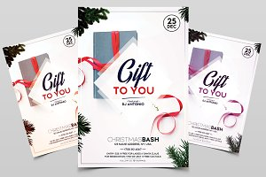 Gift to You - Christmas PSD Flyer