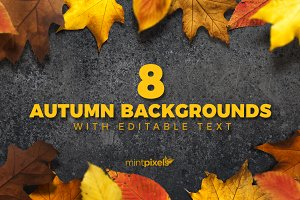 8 Colorful Autumn Backgrounds 50%off