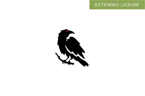 Crow logo templates creative market crow logos sciox Choice Image