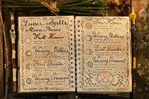 Open lunar spells diary