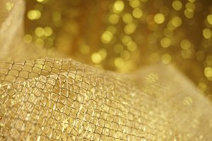 Festive Gold Background with Bokeh