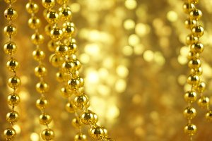 Gold Festive Photo with Bokeh