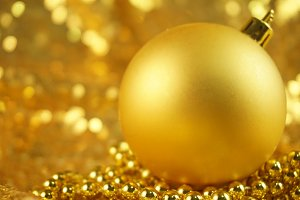 Gold Christmas Ornament Photo