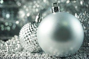 Festive Silver Ornaments