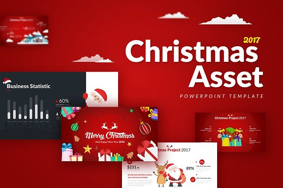 Christmas Asset - Powerpoin-Graphicriver中文最全的素材分享平台