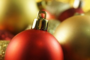 Red and Gold Festive Holiday Photo