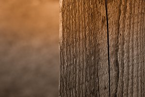 Weathered Wooden Post