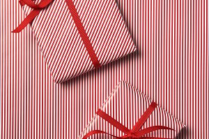 Red Striped Christmas Paper