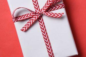White Paper Christmas Present
