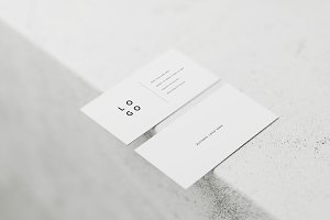 5 White Business Card Mockups
