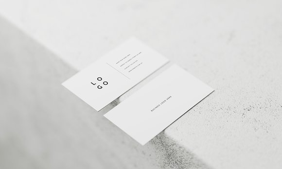 5 White Business Card Mockups Stationery Templates Creative Market