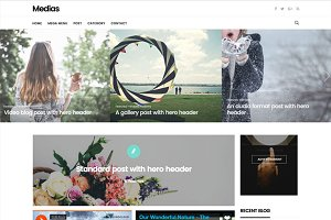 Medias - Multi-Style Blog Theme