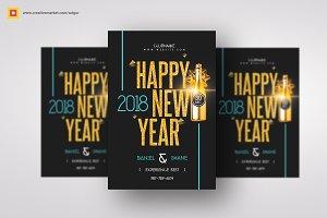 Minimal New Year Flyer
