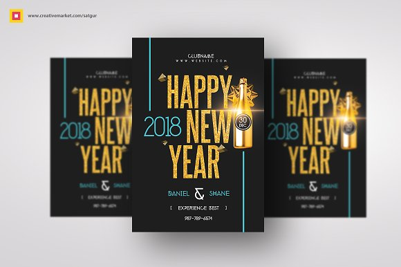 Minimal New Year Flyer-Graphicriver中文最全的素材分享平台