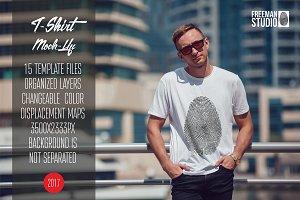 Men's T-Shirt Mock-Up Vol.5 2017