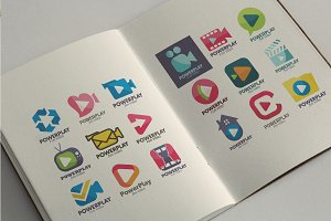 40 Premium Video Logo Icon Set