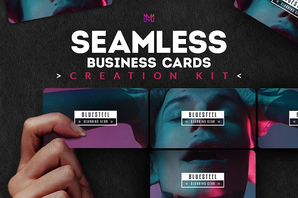 Seamless Business Cards Cre-Graphicriver中文最全的素材分享平台