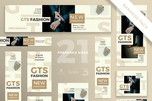 Banners Pack | Men's Fashi-Graphicriver中文最全的素材分享平台