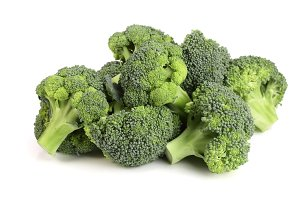 Fresh broccoli isolated on white background, healthy food